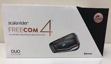 NEW CARDO SCALA RIDER FREECOM 4 DUO HELMET INTERCOM MOTORCYCLE BLUETOOTH MP3 FM