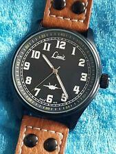 Gents Black PVD Coated LIMIT Military Pilot Style Quartz Wristwatch
