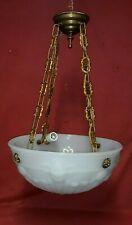 Neoclassical Cast Glass Chandelier