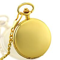 Antique Golden Skeleton Windup Mechanical Pocket Watch Chain Steampunk Gift New