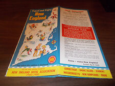1960-61 New England Vintage Road Map and Guide /New England Hotel Assoc.
