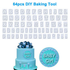 64x Number English Alphabet Letter Fondant Cake Baking Mould Cookie Cutter Decor