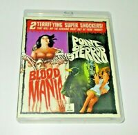 Blood Mania / Point of terror blu ray Reg free Vinegar Syndrome 3 disc set OOP