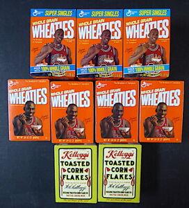 7 WHEATIES MICHAEL JORDAN MINI-CEREAL BOXES 1995 + BONUS: 2 MINI KELLOGG'S BOXES