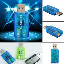 Adaptateur Carte 5.1 Audio Clé USB Externe Son Stéréo Micro Casque 3D SOUND CARD