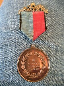 Third Prize Tandem Bicycle Racing Medal From A Race In Vienna August 26th, 1900