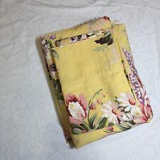 4 Pcs Twin Sheet Set Ralph Lauren Sophie Brooke Yellow Floral Cotton