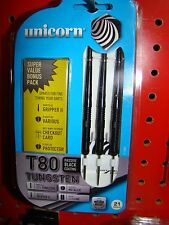 FREE SHIP Unicorn T80 80% Tungsten Steel Tip 21G Darts,CaseFREE BONUS PACK SKULL