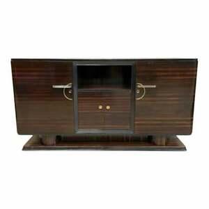 1940s French Art Deco Exotic Macassar Ebony Buffet / Sideboard / Credenzas.