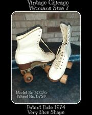 Vintage White Roller Derby Skate Skates Chicago Custom 87sp Women's Sz 7 1974 vg