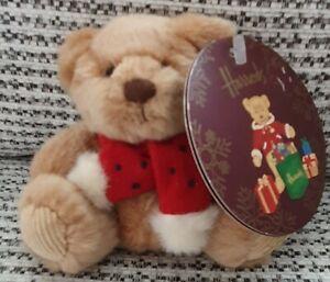 HARRODS BEAR - CHRISTMAS BEAR WITH SCARF - KEYRING