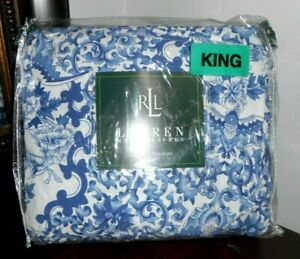 NEW Ralph Lauren Porcelain KING Bedskirt Tamarind Asian Chinoiserie