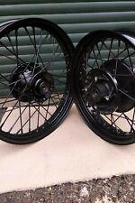 Triumph T100, Bonneville & Scrambler wheels. Tubeless. All black