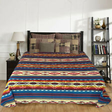 "Extra Large Soft and Warm ALPACA Wool Blanket 75""x90"" Inca Southwestern Design"