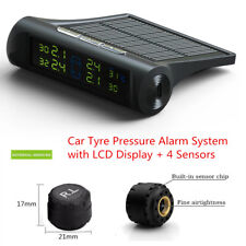 LCD Screen Solar Power TPMS Wireless Tire Pressure Monitoring System + 4 Sensors