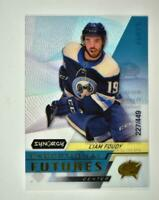 2020-21 UD Synergy Exceptional Futures Gold #EFS-LF Liam Foudy RC /449