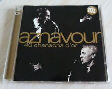 2 CD ALBUM BEST OF 40 CHANSONS D'OR CHARLES AZNAVOUR 40 TITRES 1996