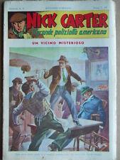 Nick Carter Il Grande poliziotto americano Anni 40 n°7 ed. NERBINI  [G369]