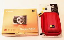 Canon PowerShot A2500 16.0MP Digital Camera Red New With New Case Logic Case