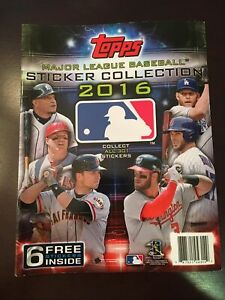 2016 TOPPS MLB STICKER Album W/ No Stickers Lot Of 2 New