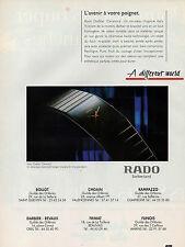 Publicité Advertising 1992  Montres RADO  Diastar Ceramica