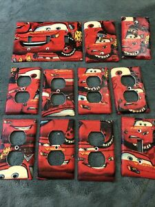 whole Room Disney Pixar Cars 7 plug 2 lightswitch 1 phone and cable wall plates
