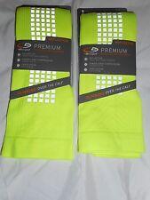 2 Pair Champion Maximum Performance Over the Calf Running Socks Yellow 6-12