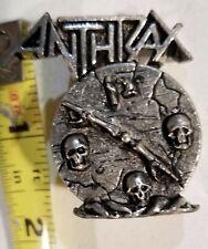 Anthrax & TestAmenT Combo Jacket lapel Pin Iron Maiden Judas Priest Slayer