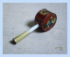 Noisemaker # 3 NEW TIN RARE PENNY TOY MADE IN GREECE GREEK Vtg 60s Lithographed