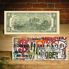 REDDIT Elon Musk was Here Stocks  Pop Art Genuine US $2 Bill SIGNED By Rency