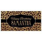 Leopard Animal Print Birthday Banner Personalized Party Backdrop