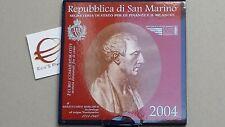 2004 2 euro fdc SAN MARINO Saint Marin Borghesi folder coffret Сан - Марино