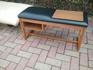 Retro/ Vintage/ Mid Century Teak Telephone Table Black top
