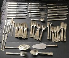 Oneida Community Coronation Silverplate Flatware Silverware Set 135 Pieces