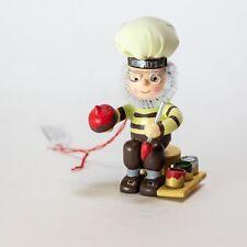"Hershey's Kurt Adler Painted Wood 3"" Elf Painting a Kiss Christmas Tree Ornament"