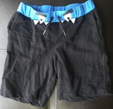 Okie Dokie Toddler Boys 5T Black Blue Monster  COTTON Shorts w Pockets