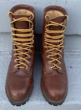 Chippewa Logger Boots Steel Toe Size 7 Brown Waterproof. Men's