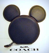 COACH X DISNEY Limited Edition MICKEY MOUSE Ears Leather Coin Purse Case NWT