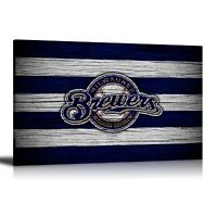 HD Print Oil Painting Home Decor Wall Art on Canvas Milwaukee Brewers Unframed