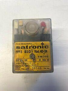 SATRONIC MMI 810 Mod 40-34 Burner Control Box Module second hand