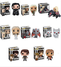 Game Of Thrones POP Jon Snow Daenerys Targaryen Black Dragon Model Toy PVC