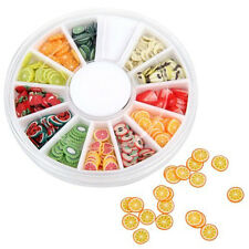 Fruit Slice Nail Art Tips UV Gel Decoration + Wheel High Quality 240pcs/set