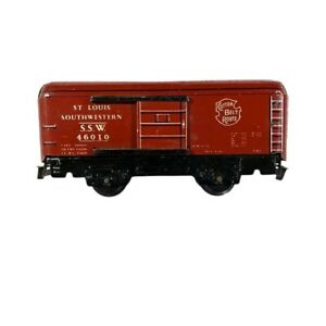 Marx S.S.W. 46010 Cotton Belt Route Boxcar Candy Apple Red C-8 Silver Letters