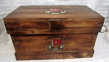 Hand Made Vintage Titanic Steamer Trunk Coffee Table Rope Handle Large Trunk