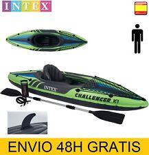 kayak hinchable Intex Challenger K1 + 1 remo + hinchador + bolsa de transporte