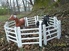 Breyer Horse Traditional scale wooden corral - pasture fence -whitewash wood 6""