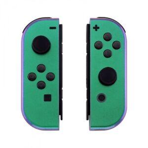 """Chameleon Green/Purple"" Nintendo Switch OEM Custom Joy-Con's Controllers"