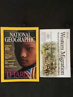 National Geographic September 2000 California Trails Tombs Rana Tharu  w/Map