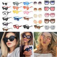 New Fashion Women Men Large Oversize Square Cat Eye Gradient Sunglasses Eyewear