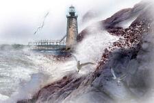 Ram Island Lighthouse, Portland, ME - by Maine artist, Jean McLean - 5 x 7
